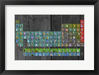 Framed License Plate - Periodic Table