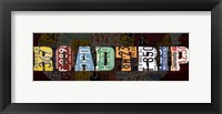 Framed Road Trip Lettering