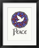Framed Peace Dove