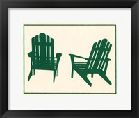 Framed Green Deck Chairs