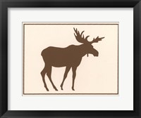 Framed Brown Moose