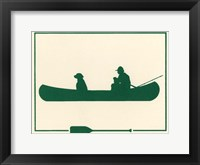 Framed Green Canoe
