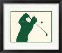 Framed Green Golfer