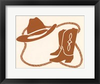 Framed Cowboy Gear