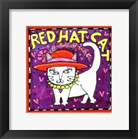 Framed Red Hat Cat