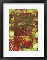 Framed Texture - Brown Green