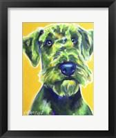 Framed Airedale Terrier - Apple Green