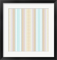 Framed Baby Blue and Brown