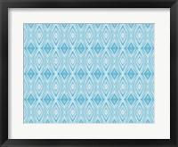 Framed Blue Diamonds II