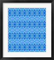 Framed Blue Diamonds