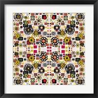 Framed Flowers in Squares