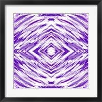 Framed Purple with White Streaks