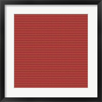 Framed Red and Gold