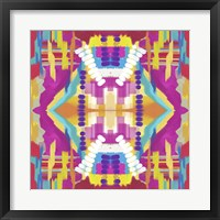 Framed Abstract purple beads