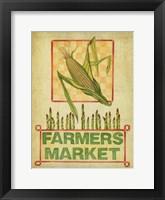 Framed Summer Farmers Market Vintage