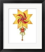 Framed Poinsettia Pinwheel