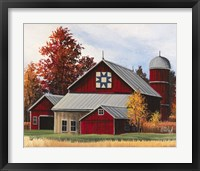 Framed Fall Barn