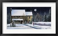 Framed Winter Cottage