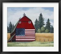 Framed Americana Barn
