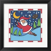 Framed Santa Football 1