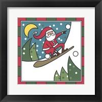 Framed Santa Snowboard 2