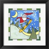 Framed Santa Snowboard 3