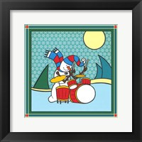 Coalman The Snowman Drums 1 Framed Print