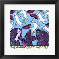 Framed Raining Cats on Dogs