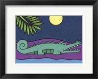 Framed Crocodile