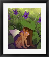Framed Shy Violet
