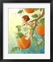 Framed Tangerine Blossom