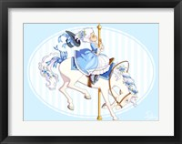 Framed Carousel Blue