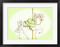 Framed Carousel Green