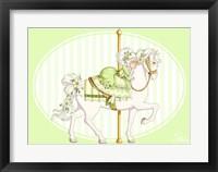 Framed Carousel Green