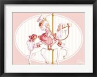 Framed Carousel Pink