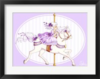 Framed Carousel Purple