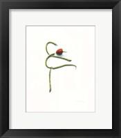 Framed String Bean Chili Pepper Arabesque