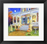 Framed Halloween Porch