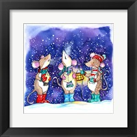 Framed Christmouse Carols