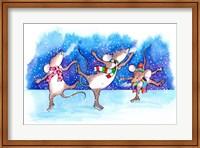 Framed Mice Skating