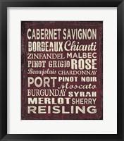 Framed Wine Sign II
