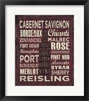 Framed Wine Sign III