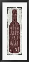 Framed Wine Sign IV