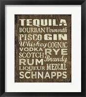Framed Liquor Sign II