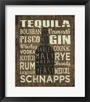 Framed Liquor Sign III