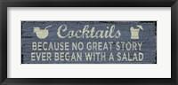 Framed Cocktail Sign I