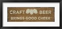 Framed Craft Beer Sign I