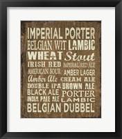 Framed Craft Beer Sign II