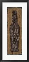 Framed Craft Beer Sign IV