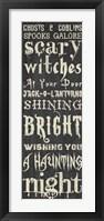 Framed Halloween Sign